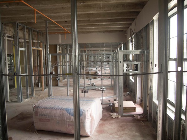 Image of Metal framing with metal stud construction