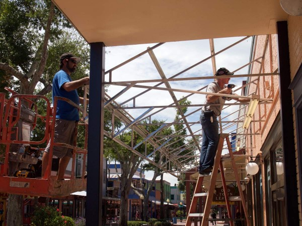 Image of metal frame construction from CAM Contracting in Orlando, FL.