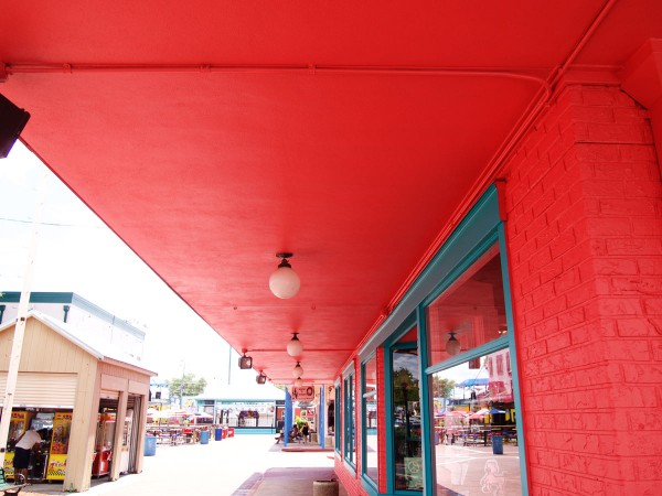Canopy roof system at Old Town Theme Park